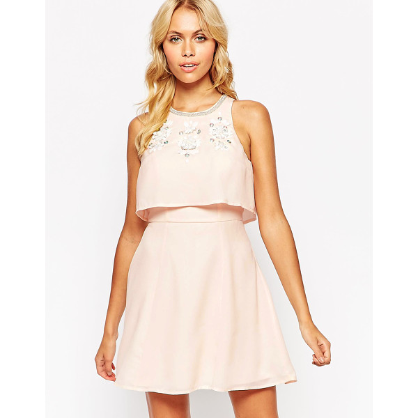 ASOS Embellished crop top skater dress - Dress by ASOS Collection Lightweight woven fabric...