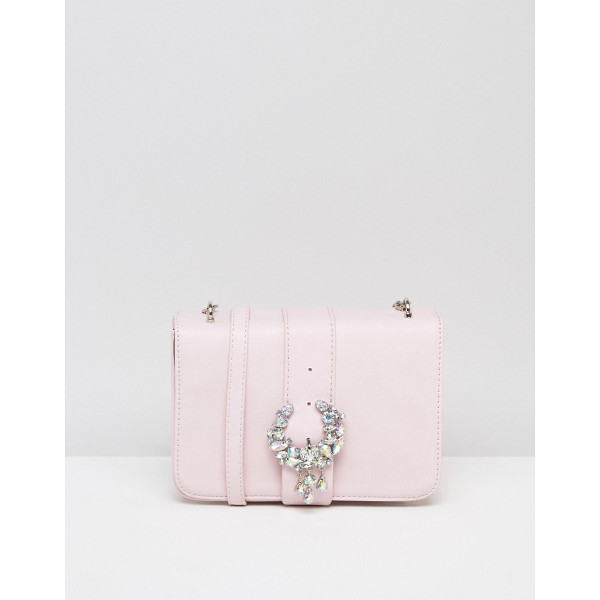 ASOS Embellished Encrusted Cross Body Bag With Buckle - Bag by ASOS Collection, Faux leather outer, Fully lined,