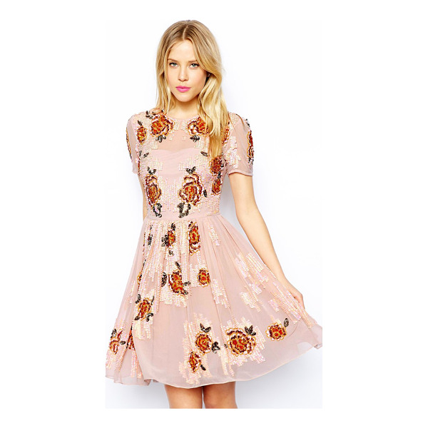 ASOS Embellished flowers dress - Hand Wash Only. Lining 1: 100% Polyester Lining 2: 100%...