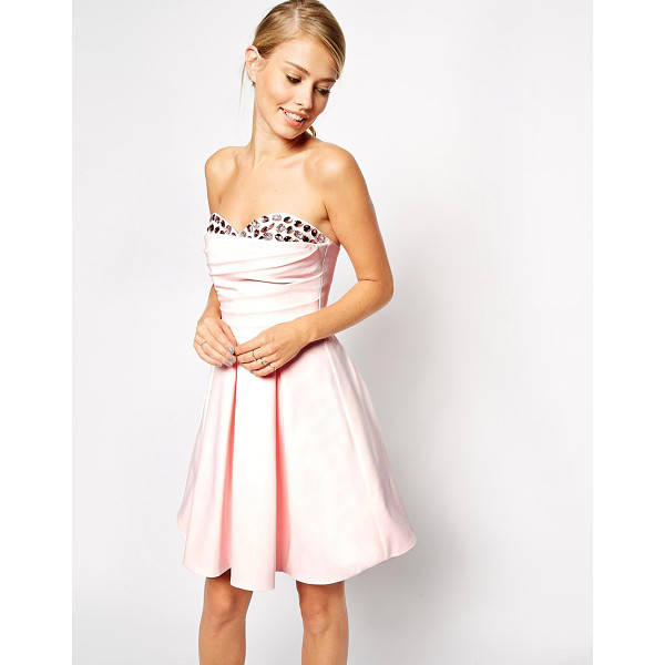 ASOS Embellished peekaboo bandeau dress - Dress by ASOS Collection, Soft touch, heavyweight fabric,...
