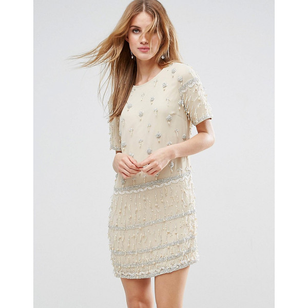 "ASOS Embellished Tassle Fringe Shift Dress - """"Dress by ASOS Collection, Lined woven fabric, Crew neck,..."
