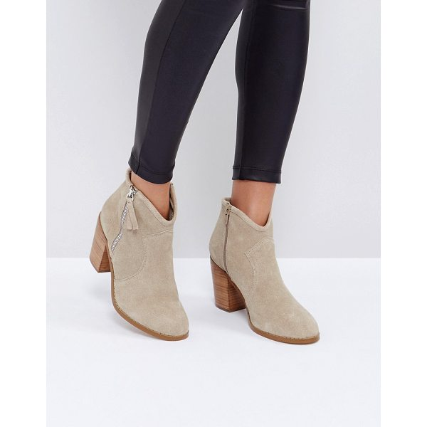 """ASOS EMMIE Suede Ankle Boots - """"""""Boots by ASOS Collection, Suede upper, Side zip opening,..."""