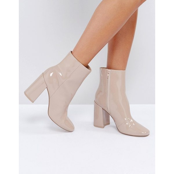 "ASOS ENGAGE Patent Ankle Boots - """"Boots by ASOS Collection, Glossy upper, Side-zip..."