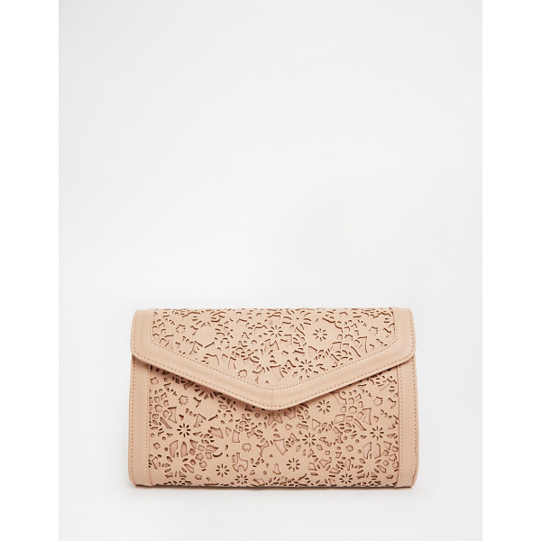 ASOS Envelope clutch bag with cut out - Clutch bag by ASOS Collection Smooth leather-look outer...