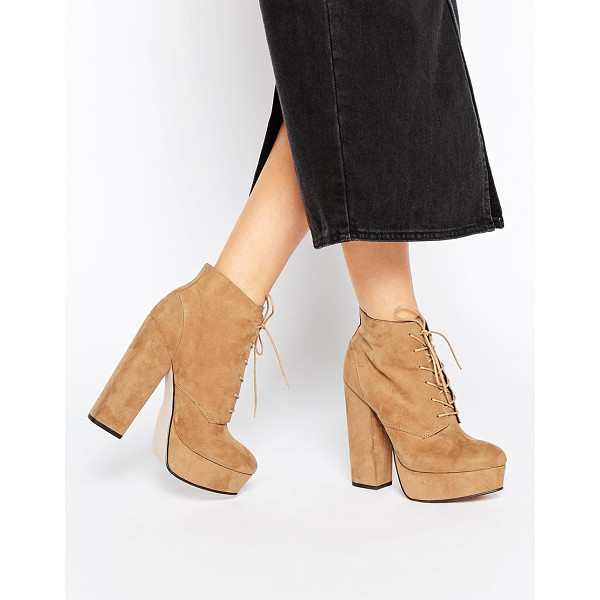 "ASOS EPIC Lace Up Platform Boots - """"Boots by ASOS Collection, Suede-look upper, Lace-up..."