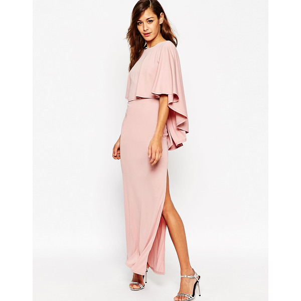 ASOS Extreme cape maxi dress - Maxi dress by ASOS Collection Smooth, slinky fabric Round...