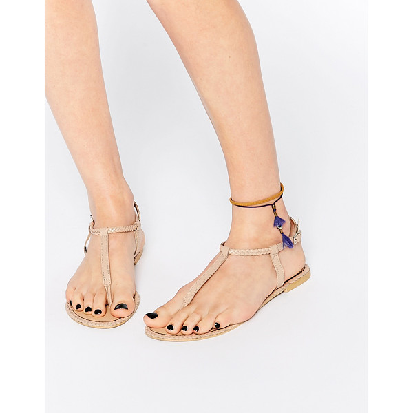 ASOS FEATHER Leather Braid Sandals - Sandals by ASOS Collection, Smooth leather upper, Pin...