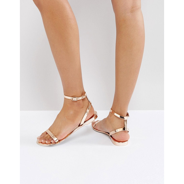 ASOS FELINE Jelly Flat Sandals - Sandals by ASOS Collection, Metallic jelly upper,...