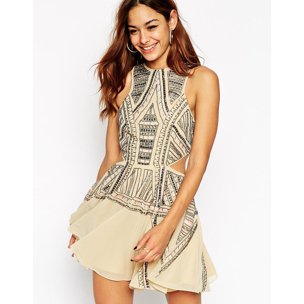ASOS Festival cut out skater dress - Dress by ASOS Collection Heavyweight chiffon Fully lined...