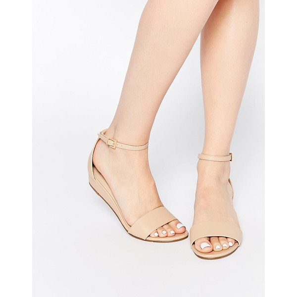 ASOS Flare two part sandals - Sandals by ASOS Collection, Faux-leather upper, Pin buckle...