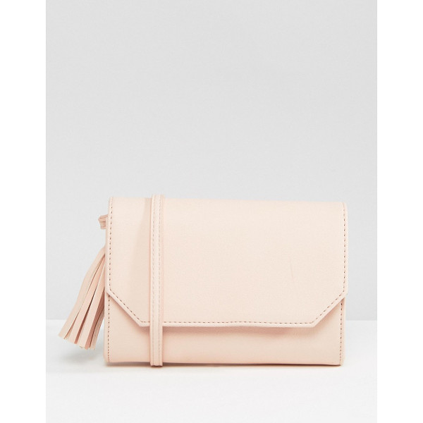 "ASOS Foldover Tassel Cross Body Bag - """"Bag by ASOS Collection, Faux leather outer, Single body..."