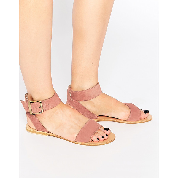 ASOS Francis suede two part sandals - Sandals by ASOS Collection Suede upper Two part design Wide...