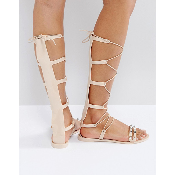 ASOS FREEMAN Jelly Gladiator Flat Sandals - Sandals by ASOS Collection, Smooth jelly upper, Tie...