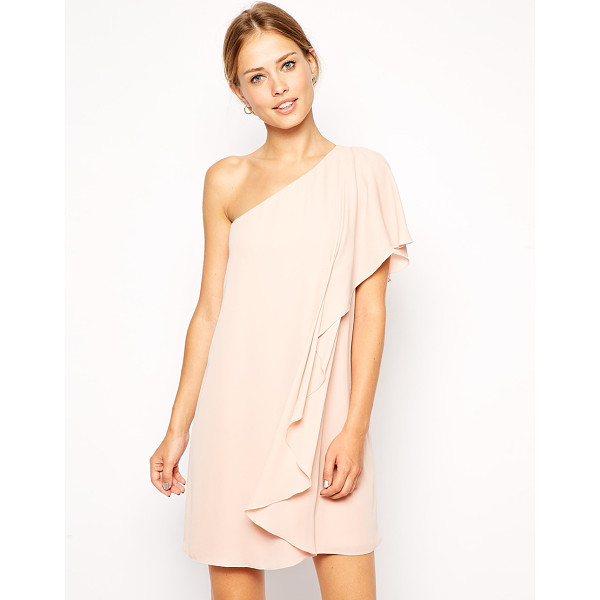 ASOS Frill one shoulder shift dress - Dress by ASOS Collection Lightweight chiffon fabric...