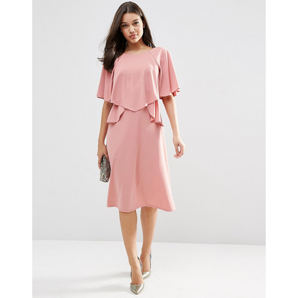 ASOS Full soft ruffle midi dress - Midi dress by ASOS Collection Unlined fabric Soft-touch...