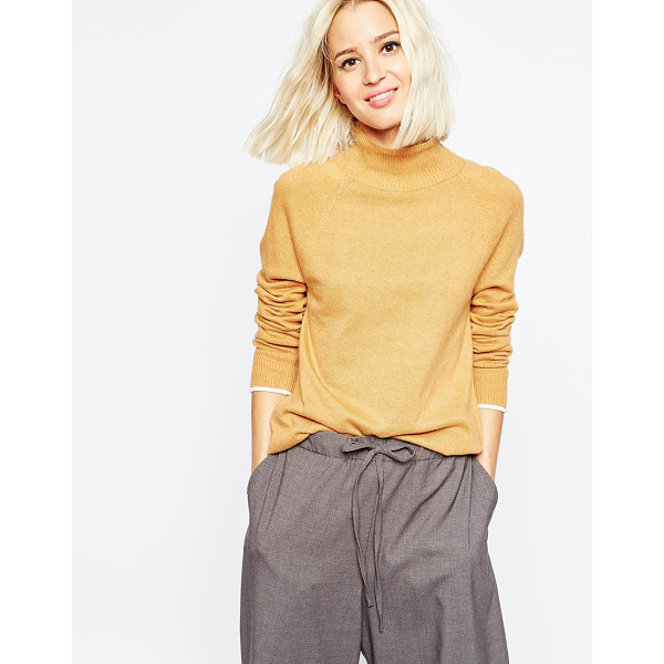 ASOS Funnel neck sweater with tipping - Sweater by ASOS Collection Soft-touch fine knit Lightweight...