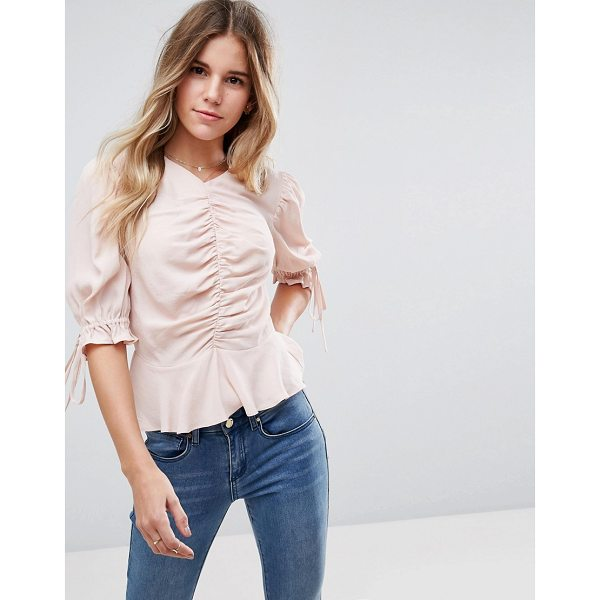 ASOS Gathered Front Top with Pephem - Top by ASOS Collection, Lightweight woven fabric, High...