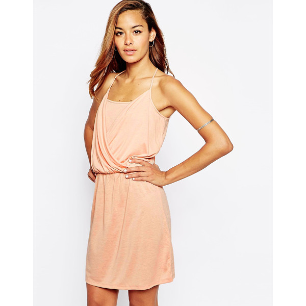 ASOS Grecian wrap front mini dress - Dress by ASOS Collection, Lightweight jersey, Draped wrap...