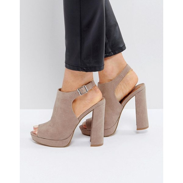 """ASOS HAIL Shoe Boot Platforms - """"""""Platform shoes by ASOS Collection, Faux-suede upper,..."""