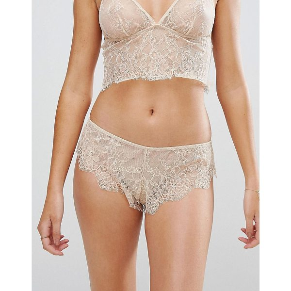 ASOS Hailey Lace French Underwear - Briefs by ASOS Collection, Semi-sheer lace, Mid-rise waist,...