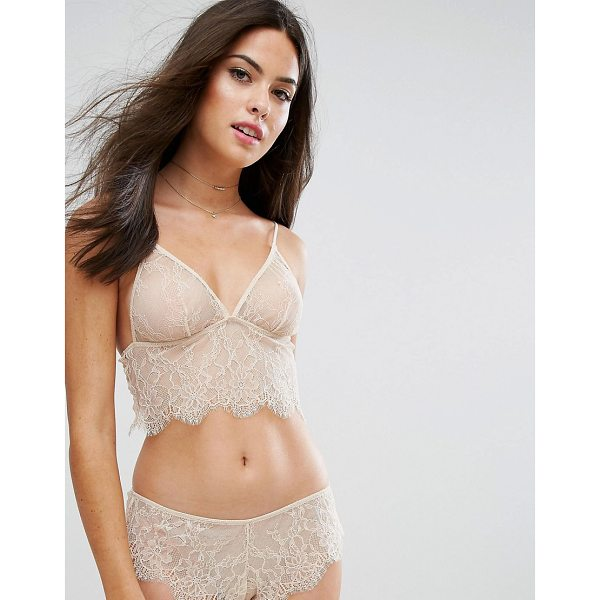 """ASOS Hailey Longline Lace Triangle Bra - """"""""Bra by ASOS Collection, Sheer unlined lace, Non-padded..."""