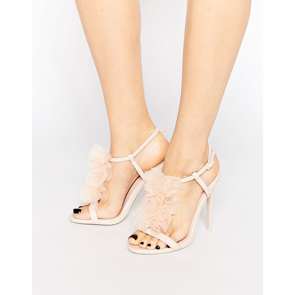 ASOS HAILSTONE Heeled Sandals - Heels by ASOS Collection, Smooth upper, Frill detail, Pin