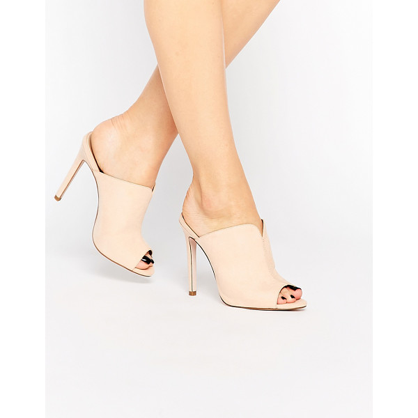 ASOS Halo heeled mules - Heels by ASOS Collection, Leather-look upper, Slip-on...