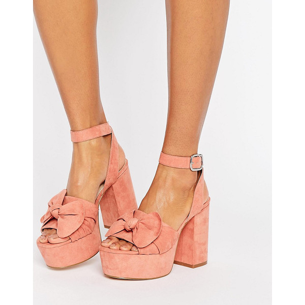 ASOS HALO Platform Bow Sandals - Sandals by ASOS Collection, Textile upper, Ankle-strap