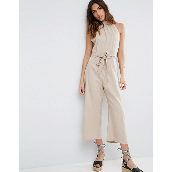 """ASOS Halter Jumpsuit in Linen - """"""""Jumpsuit by ASOS Collection, Linen-mix fabric, High neck,..."""