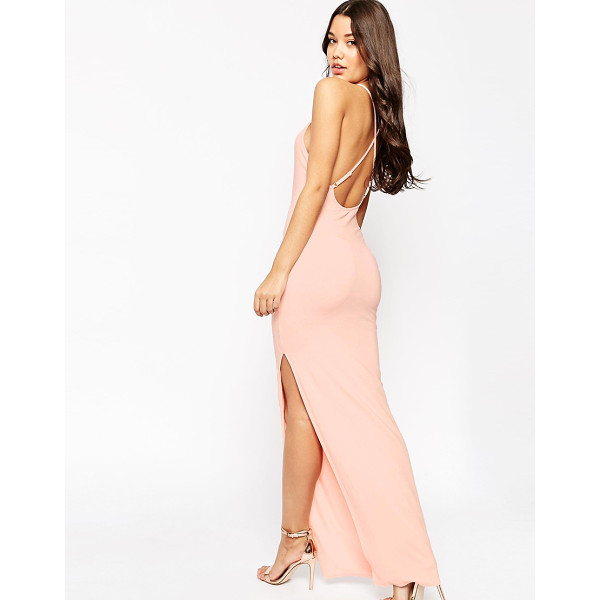 ASOS Halter Strappy Back Maxi Dress - Maxi dress by ASOS Collection, Stretch soft-touch jersey,...
