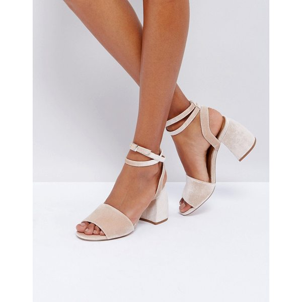 "ASOS HAMPER Heeled Sandals - """"Sandals by ASOS Collection, Velvet upper, Ankle-strap..."