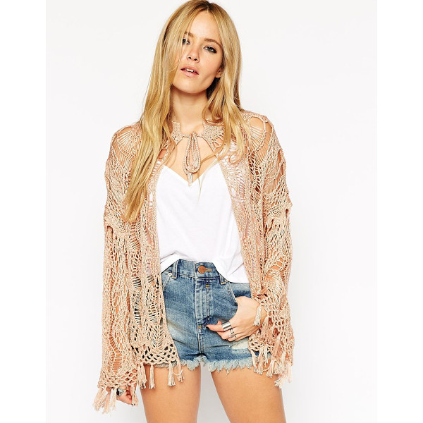 ASOS Hand crochet metallic cardigan - Cardigan by ASOS Collection Midweight, crochet knit...