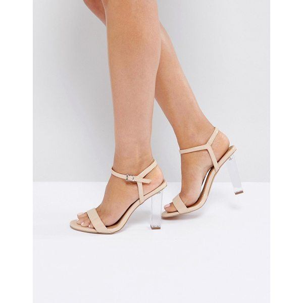 """ASOS HANSEL Clear Heeled Sandals - """"""""Heels by ASOS Collection, Patent faux-leather upper,..."""