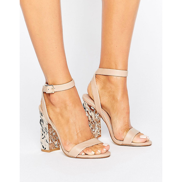 """ASOS HAZARD Heeled Sandals - """"""""Sandals by ASOS Collection, Faux-leather upper,..."""