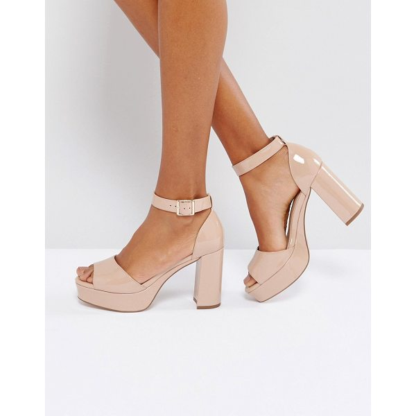 "ASOS HEIDI Heeled Sandals - """"Heels by ASOS Collection, Patent upper, Ankle-strap..."