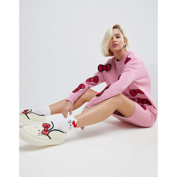 ASOS Hello Kitty X  Midi Knitted Dress With 3D Bow Detail - Dress by ASOS x Hello Kitty, Designed in collaboration with...