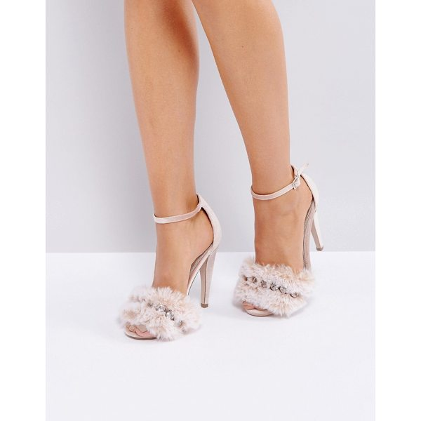 "ASOS HER MAJESTY Embellished Heeled Sandals - """"Heels by ASOS Collection, Textile upper, Ankle-strap..."