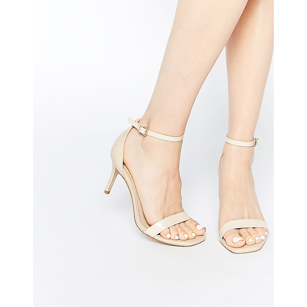 ASOS HEYDAY Heeled Sandals - Heels by ASOS Collection, Leather-look upper, Pin-buckle
