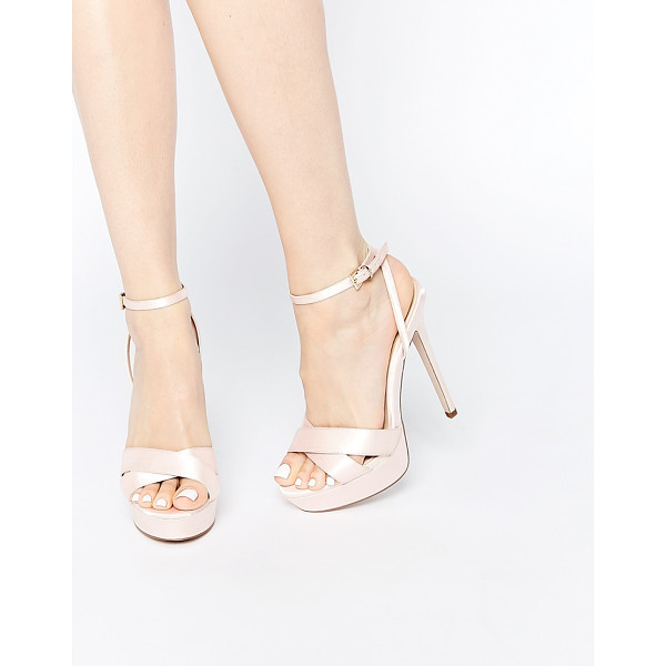 ASOS HIDDEN VALLEY Platforms - Platform shoes by ASOS Collection, Satin upper, Cross-over