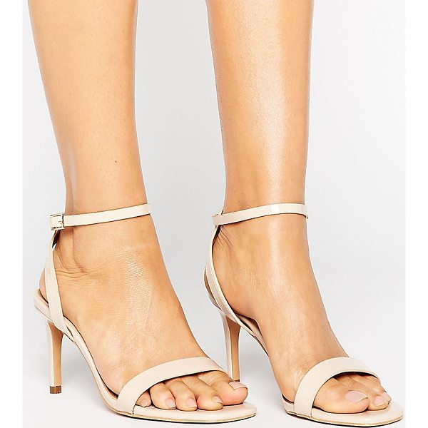 "ASOS HIDEAWAY Heeled Sandals - """"Sandals by ASOS Collection, Faux-leather upper, Patent..."