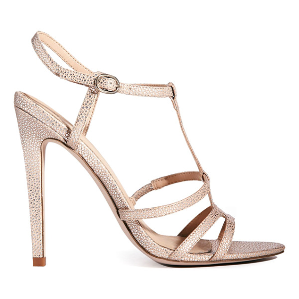 ASOS Hierarchy heeled sandals - Heels by ASOS Collection, Leather-look upper, Textured...