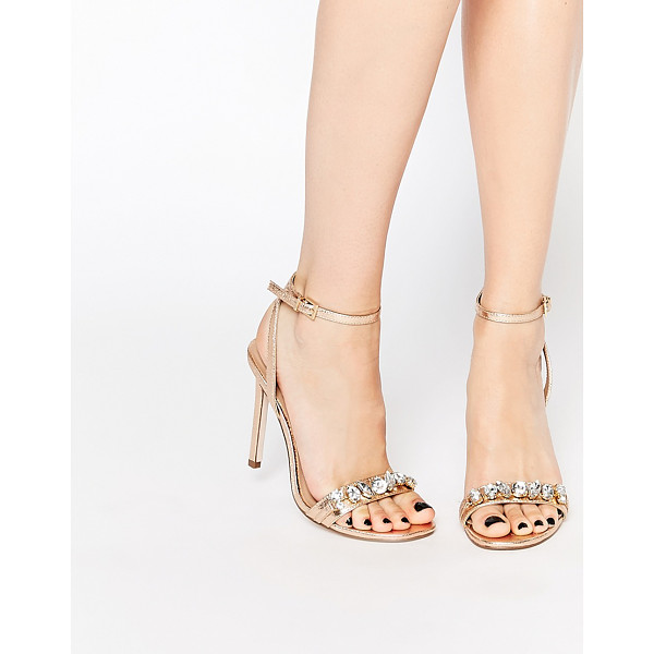 ASOS HIGH IN THE SKY Heeled Sandals - Sandals by ASOS Collection, Metallic, leather-look upper,...