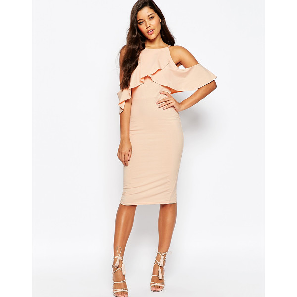 ASOS High neck cold shoulder midi dress - Dress by ASOS Collection, Smooth fabric, High, square...