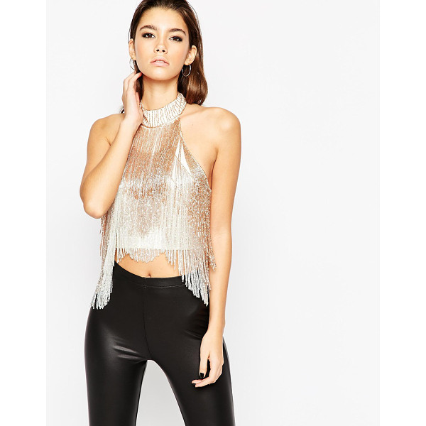 ASOS High neck top with halter neck and ombre sequin - Top by ASOS Collection Smooth nylon main Lined design Round...