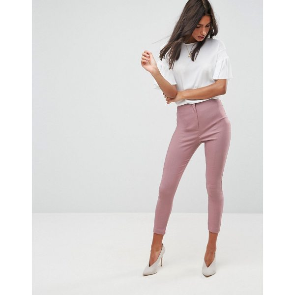 ASOS High Waist Pants In Skinny Fit - Pants by ASOS Collection, Smooth woven fabric, Added...