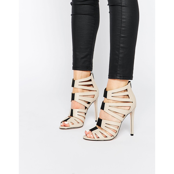 ASOS HIT THE MARK Caged High Heels - Heels by ASOS Collection, Smooth leather-look upper,...