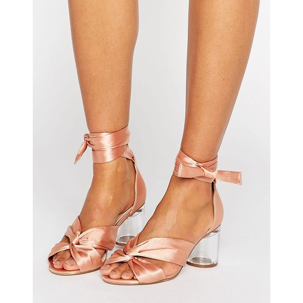 """ASOS HOLLOW Heeled Sandals - """"""""Sandals by ASOS Collection, Satin-style upper,..."""