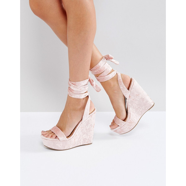 "ASOS HONDURAS High Wedge Sandals - """"Wedges by ASOS Collection, Crushed velvet upper,..."