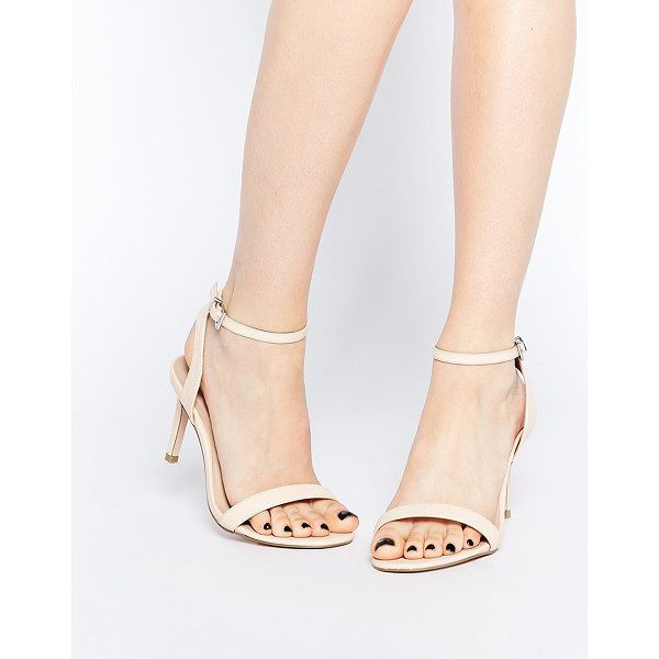 ASOS Hooray wide fit heeled sandals - Sandals by ASOS Collection Leather-look upper Matte finish...