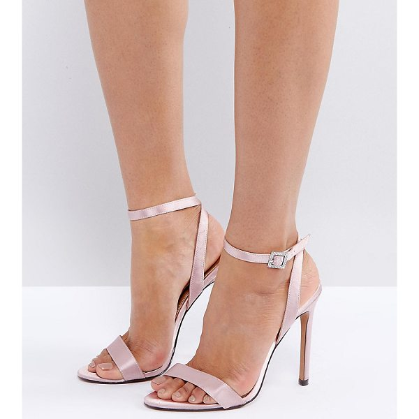"""ASOS HOPEFUL Jewelled Buckle Heeled Sandals - """"""""Heels by ASOS Collection, Satin upper, Ankle-strap..."""